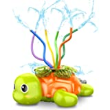 SAOCOOL Water Toys Sprinklers for Kids, Kids Sprinkler for Yard Game with Wiggle Tubes, Spinning Turtle Water Sprinkler for K