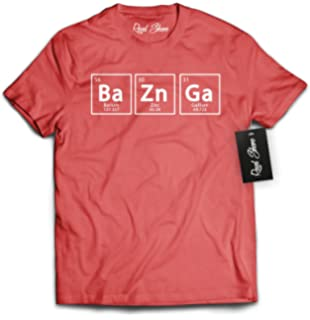 8ccc7c505f Ripple Junction Big Bang Theory Bazinga Adult T-Shirt | Amazon.com