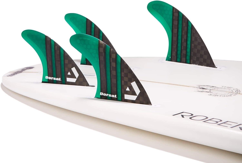 Honeycomb FCS Base Green Dorsal Surfboard Fins Hexcore Thruster Set 3