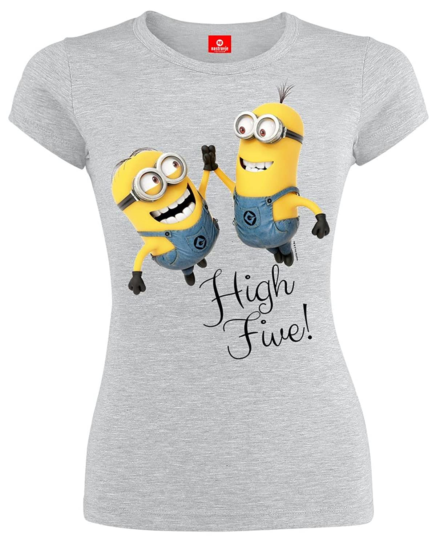 more photos 1ba20 5733b Minions High Five Girlie Shirt Ich Einfach unverbesserlich ...
