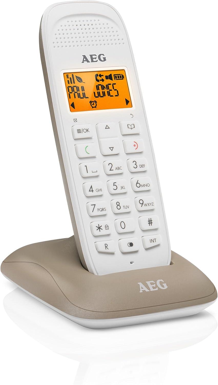 AEG Voxtel D81 - Teléfono inalámbrico DECT con Altavoz, Gris