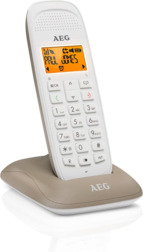 AEG Voxtel D81 - Teléfono inalámbrico DECT con Altavoz, Gris: Aeg-Telecomunicacoes-Sa: Amazon.es: Electrónica