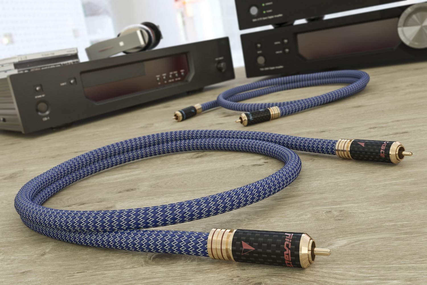 Hi-Fi Cable Audio Interconexi/ón anal/ógico Cinch RCA Est/éreo OFC Ricable RU2 Ultimate 2 x 2 m