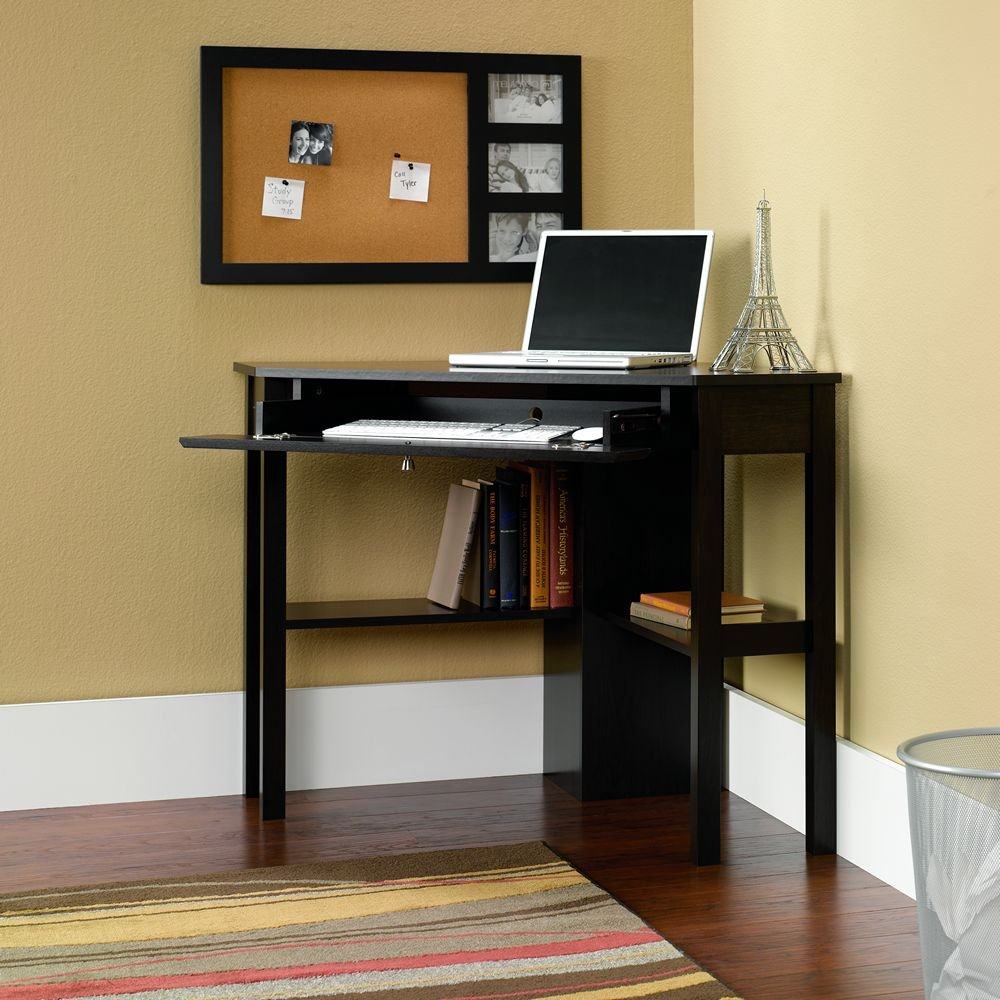 Computer Desk Home Amazoncom Sauder Beginnings Corner Computer Desk Cherry