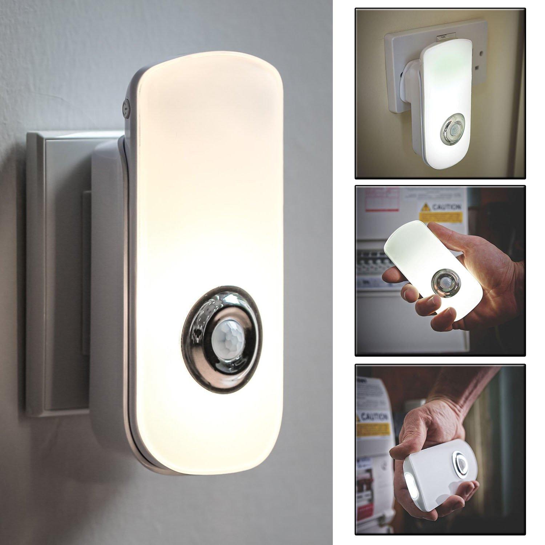 Night light with motion sensor - Sentik Two Function Rechargeable 18 Led Motion Sensor Night Light And Torch