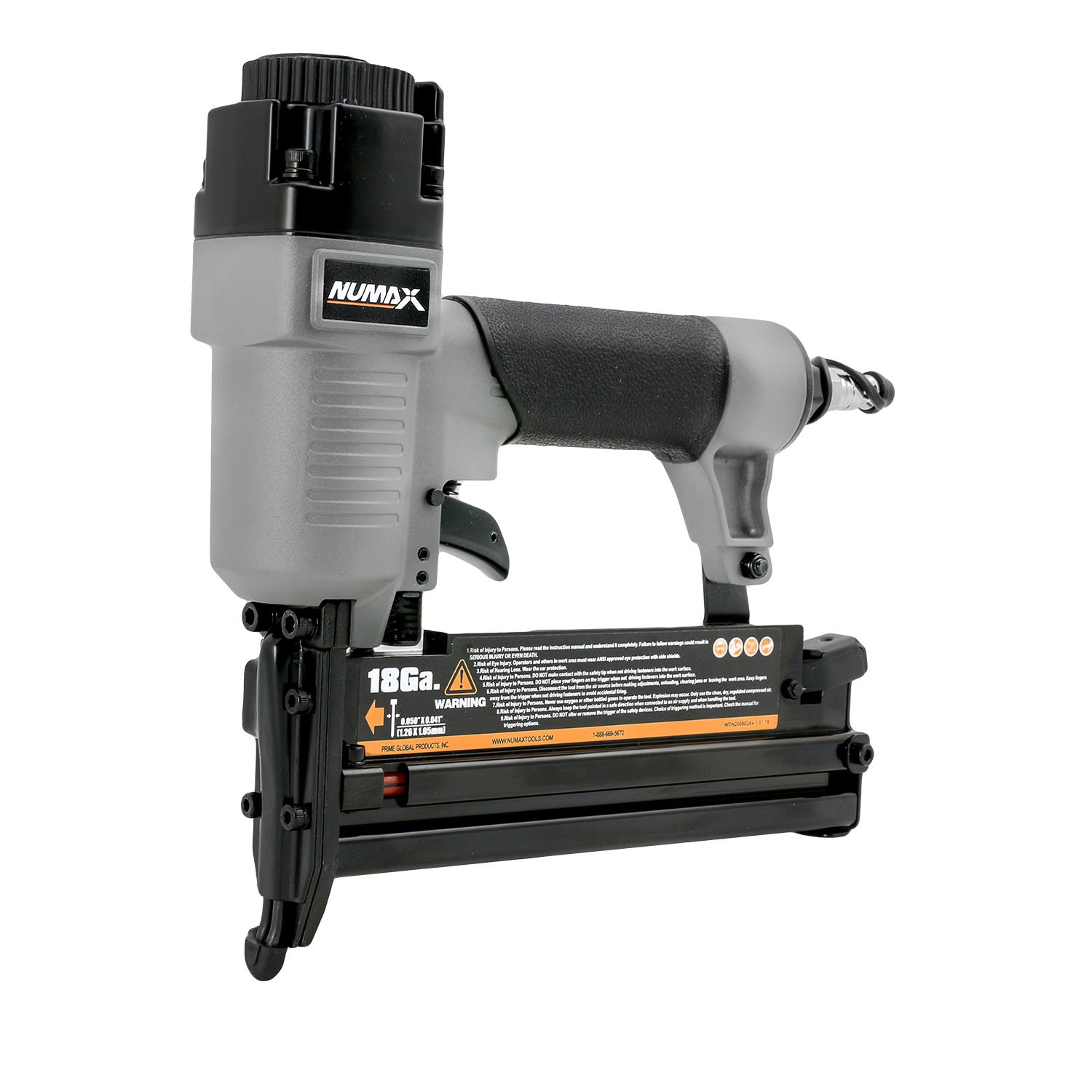NuMax SL31 18 & 16 Gauge Pneumatic 3-in-1 Nailer & Stapler, Gray & Black by NuMax (Image #1)