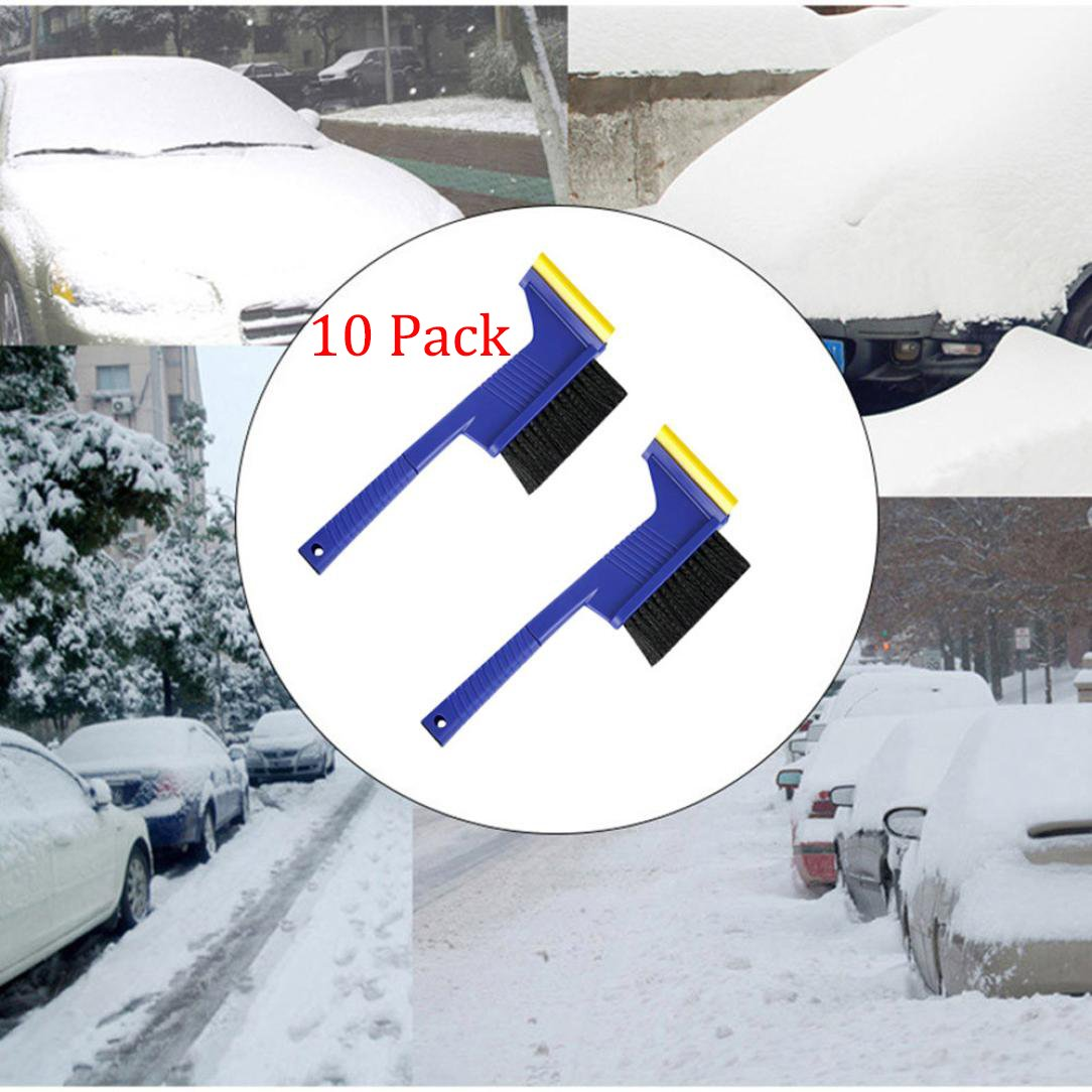 Alonea 5 in 1 Multifunction Car Vehicle Hammer Snow Ice Scraper Shovel Removal Brush Pack of 10