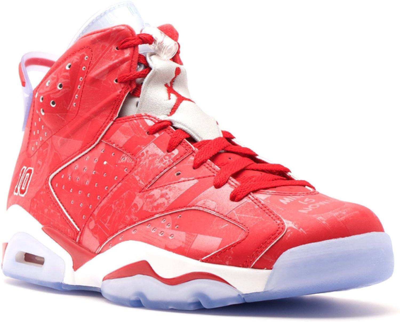 Nike Mens Air Jordan 6 Retro X Slam Dunk Varsity Red-White Leather  Basketball Shoes Size 9.5