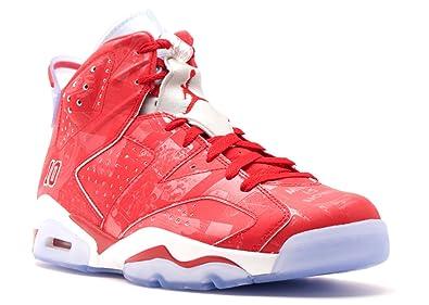 NIKE Mens Air Jordan 6 Retro X Slam Dunk Varsity Red-White Leather  Basketball Shoes