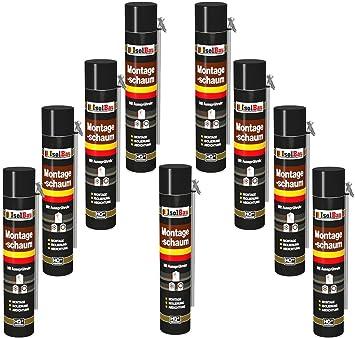 Espuma de montaje 9 lata 750 ml con aussprührohr 1 K Diseño Espuma de espuma de poliuretano adaptador Espuma: Amazon.es: Bricolaje y herramientas