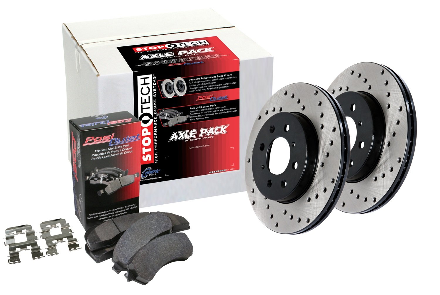 Drilled Rear Brake Kit StopTech 939.33513 Street Axle Pack