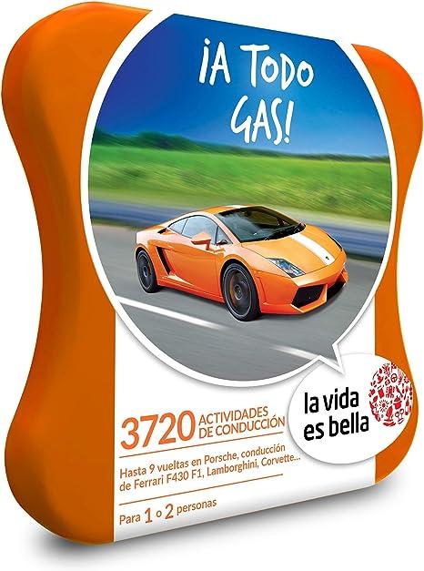 LA VIDA ES BELLA - Caja Regalo - ¡A TODO GAS! - 3720 experiencias de aventura y conducción con Porsche, Ferrari, Lamborghini y mucho más: Amazon. es: Deportes y aire libre