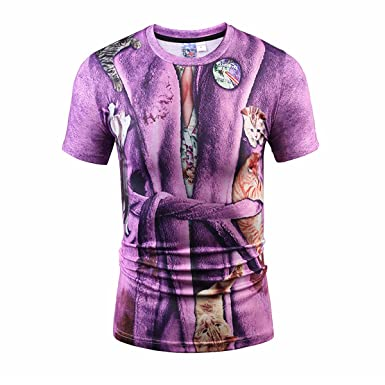 48740fa59994 Yonbii Summer New Men s 3D Print Graphic Bomb Casual T-Shirts Party Dress  Children s Day gift  Amazon.co.uk  Clothing