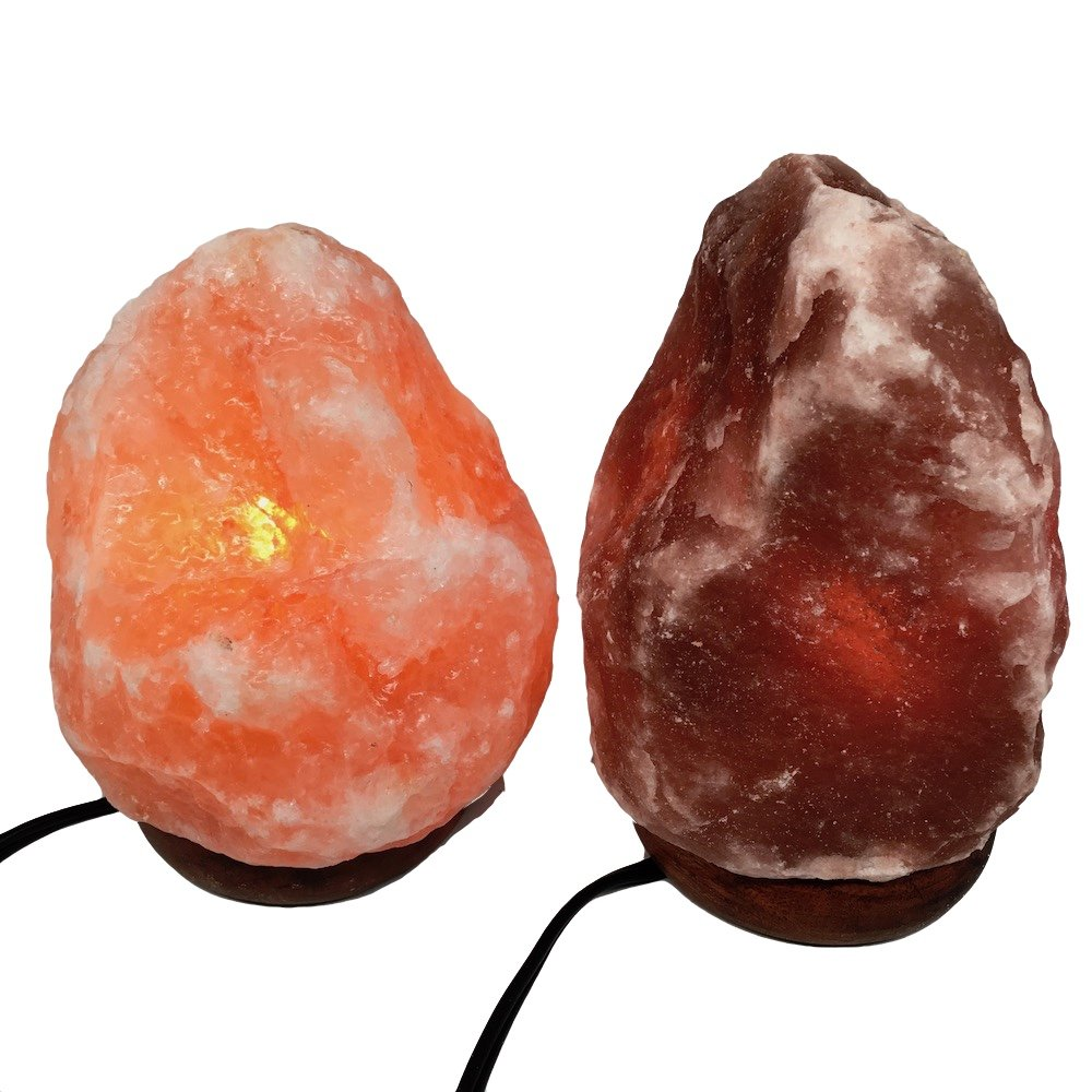 2x Himalaya Natural Handcraft Rough Raw Crystal Salt Lamp 6.5''-7''Tall, X080, Exact Item Delivered by Watan Gems