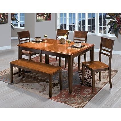 Sensational Amazon Com Labelle 6 Piece Round Corner Dining Table 4 Squirreltailoven Fun Painted Chair Ideas Images Squirreltailovenorg