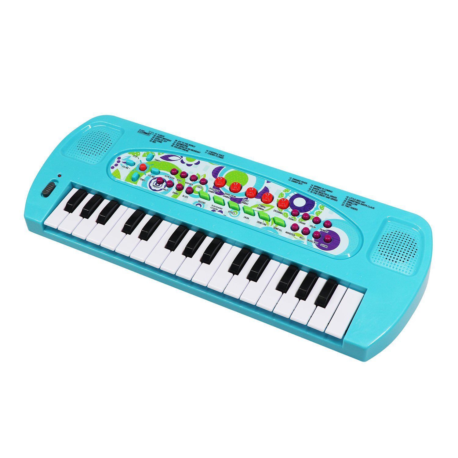 aPerfectLife 32 Keys Multifunction Portable Electronic Musical Kids Piano Keyboard Kids Children Boys Early Learning Educational Toy (Blue)