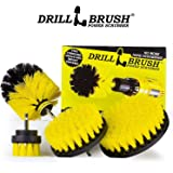 Drill Powered Nylon Bristle Cleaning Brushes With