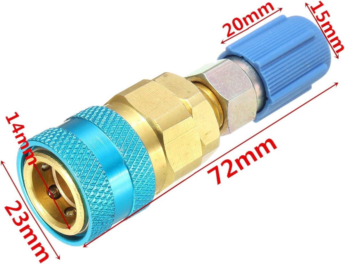 Andifany Adattatore di Espansione Lato Alto e Basso R134A Adattatore Connettore Rapido Freon Accessori di Climatizzazione per Autoveicoli per per