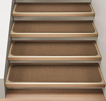 Amazon.com: Set of 12 Attachable Indoor Carpet Stair Treads ...