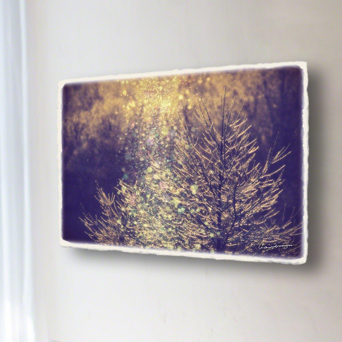和紙 アートパネル 「ダイヤモンドダストと朝日に輝く凍ったカラマツの枝」 (36x24cm) 絵 絵画 壁掛け 壁飾り インテリア アート B07B2DFTJ6 13.アートパネル(長辺36cm) 8800円|ダイヤモンドダストと朝日に輝く凍ったカラマツの枝 ダイヤモンドダストと朝日に輝く凍ったカラマツの枝 13.アートパネル(長辺36cm) 8800円