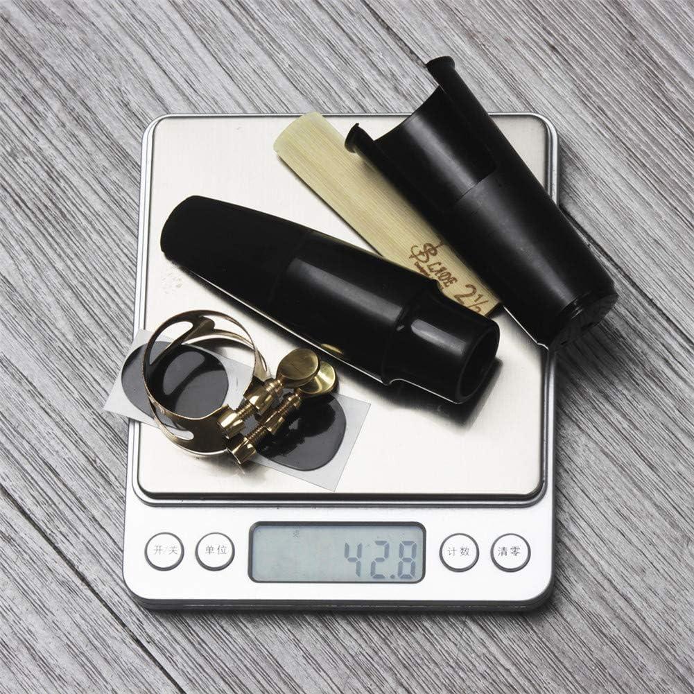 Reed Yiwa 5pcs Set Bec Saxophone Pad Dentaire pour Alto//Tenor//Sax Soprano Accessoires pour Instrument de Musique Saxophone t/énor Cap Clip Clip