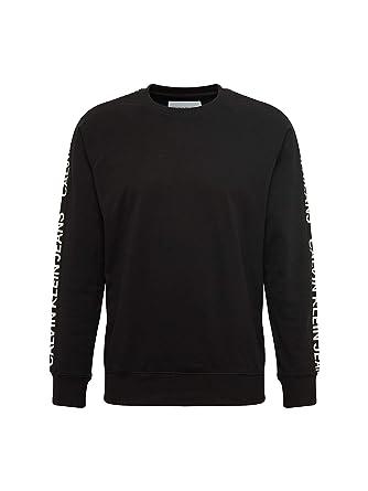 Calvin Klein Sudadera Side Stripe Negro Hombre: Amazon.es: Ropa y accesorios