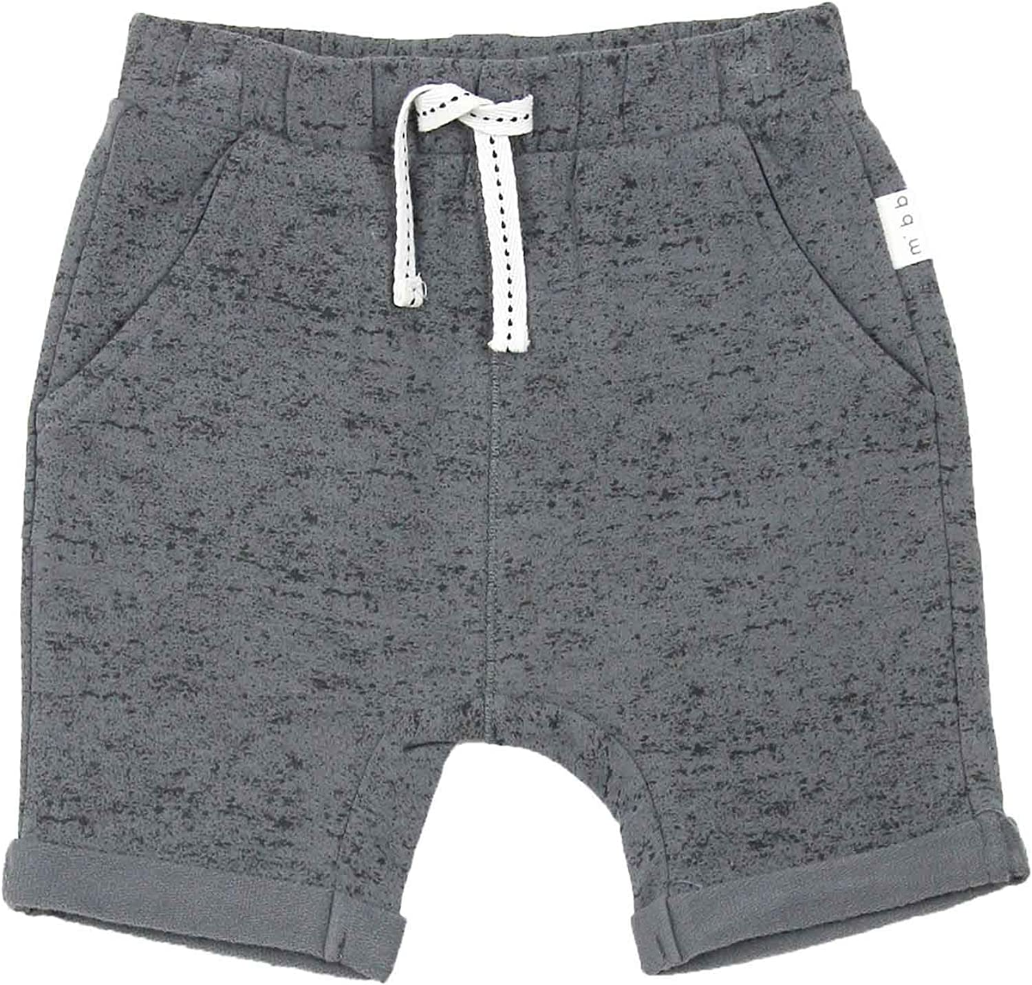 Sizes 6M-4 Miles Baby Boys Cuffed Terry Shorts