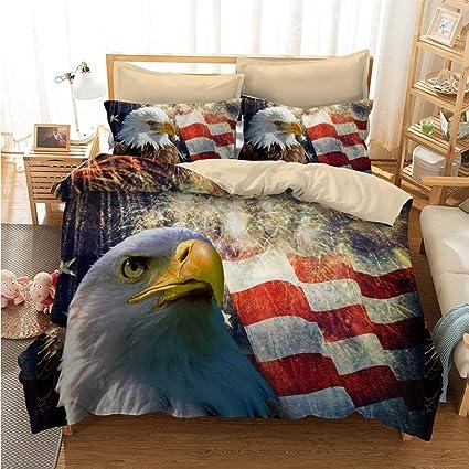 Amazon Com Awesome American Eagle Flag Cotton Microfiber 3pc 90 X90
