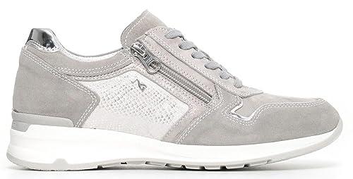 NERO GIARDINI sneaker donna P805054D nr. 36 pelle avorio 5054 .