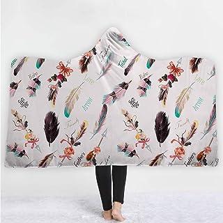 LMTR-blanket Manta Encapuchada Atrapasueños Serie de Acuarelas Gorra con Capucha Manta Manta Manta Gruesa Manta Capucha Manta Siesta Manta niños Manta