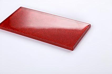 Qm di piastrelle da parete in vetro rosso con glitter piastrelle