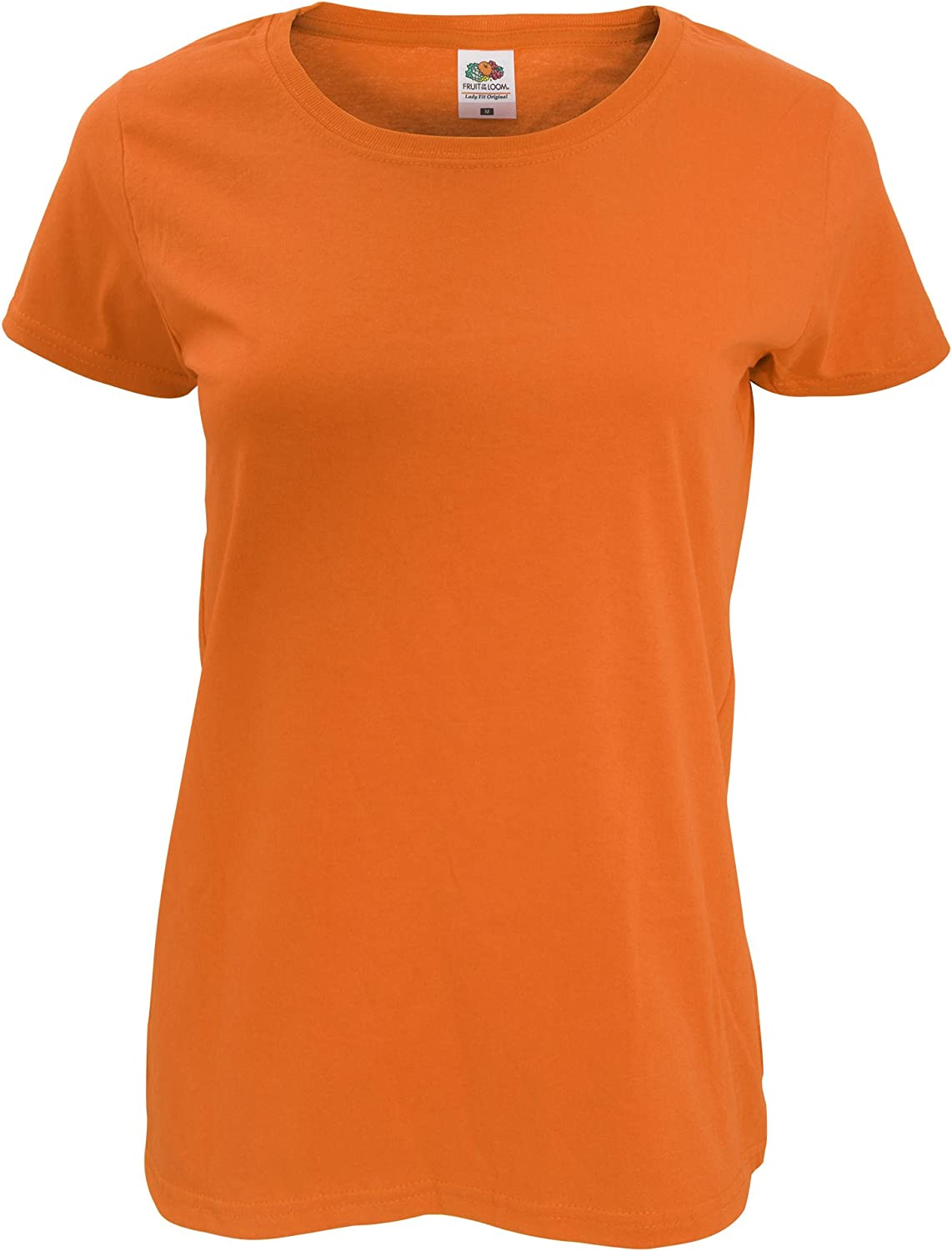 T-shirt Donna FRUIT OF THE LOOM Aderente LADY-FIT Maglietta//MAGLIA Manica Lunga