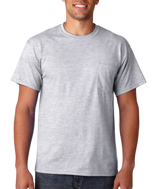 Gildan DryBlend 5.6 oz., 50/50 Pocket T-Shirt, ASH GREY