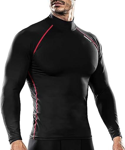 Take Five Mens Skin Tight Compression Base Layer Running Shirt White 075 CA