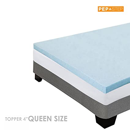 Amazoncom Memory Foam Mattress Topper 4 Inch Thick Cooling Gel