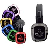 Party Headphones Silent Disco Headphones | Wireless RF | 12 Hour Battery | Up to 1500 Foot Distance | Colleges, Churches, Eve