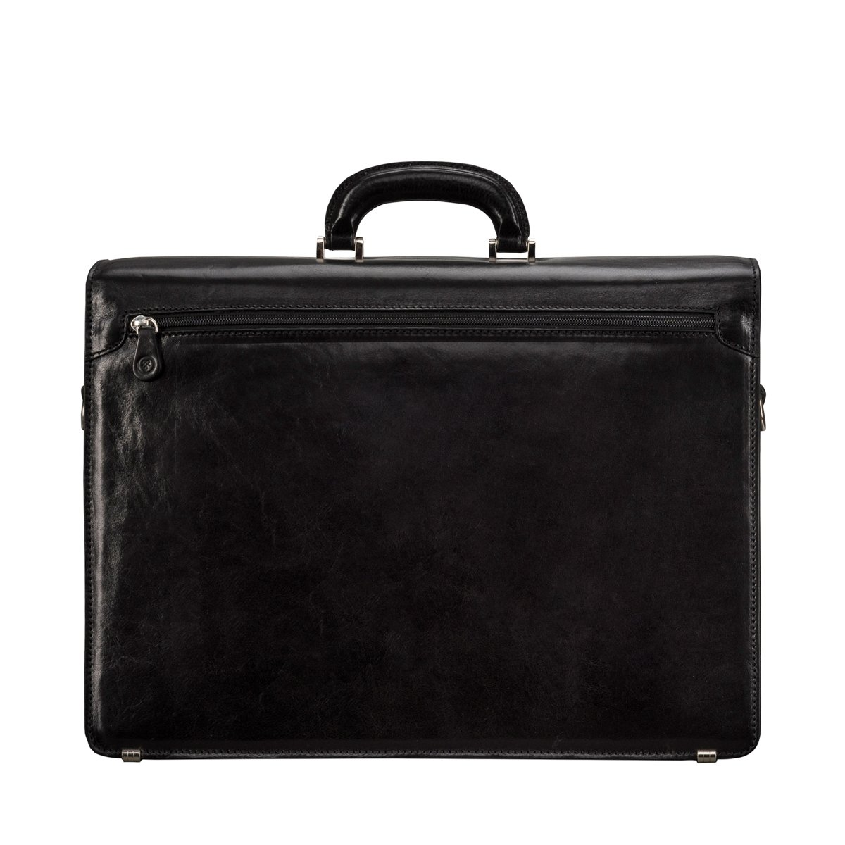 d71b6fa018 Amazon.com   Maxwell Scott Luxury Black Handmade Leather Briefcase (The  Tomacelli 2 section)   Luggage & Travel Gear