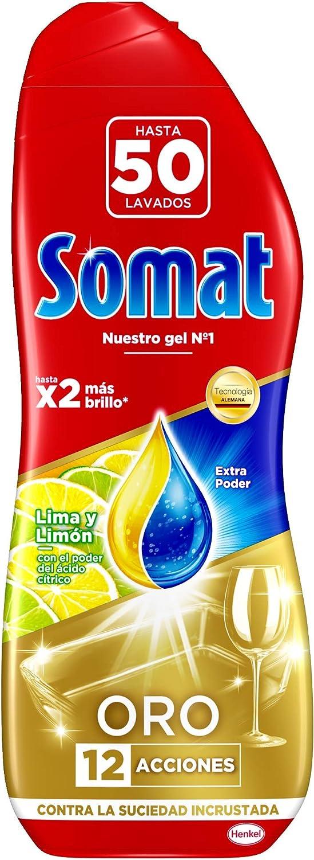 Somat Oro Gel Lavavajillas Limón 50 Lavados 900 Ml Amazon Es Salud Y Cuidado Personal