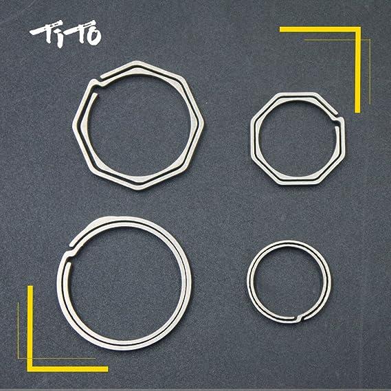 Amazon.com: Tito simple aleación de titanio cierre Clips ...