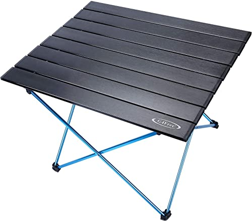 G4Free Portable Camping Table with Aluminum Table Top and Carrying Bag, Folding Ultralight Camp Table in a Bag for Picnic, Camp, Beach, Boat, Cooking, BBQ, Home Use, Easy to Clean