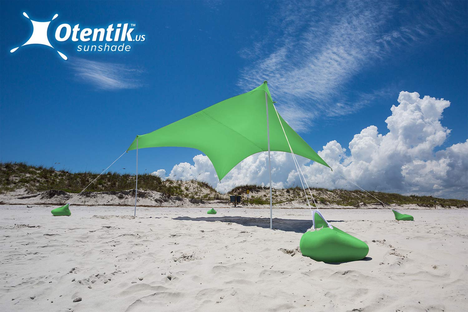 Otentik Beach Sunshade - with Sandbag Anchors - The Original Sunshade Since 2011 by Otentik