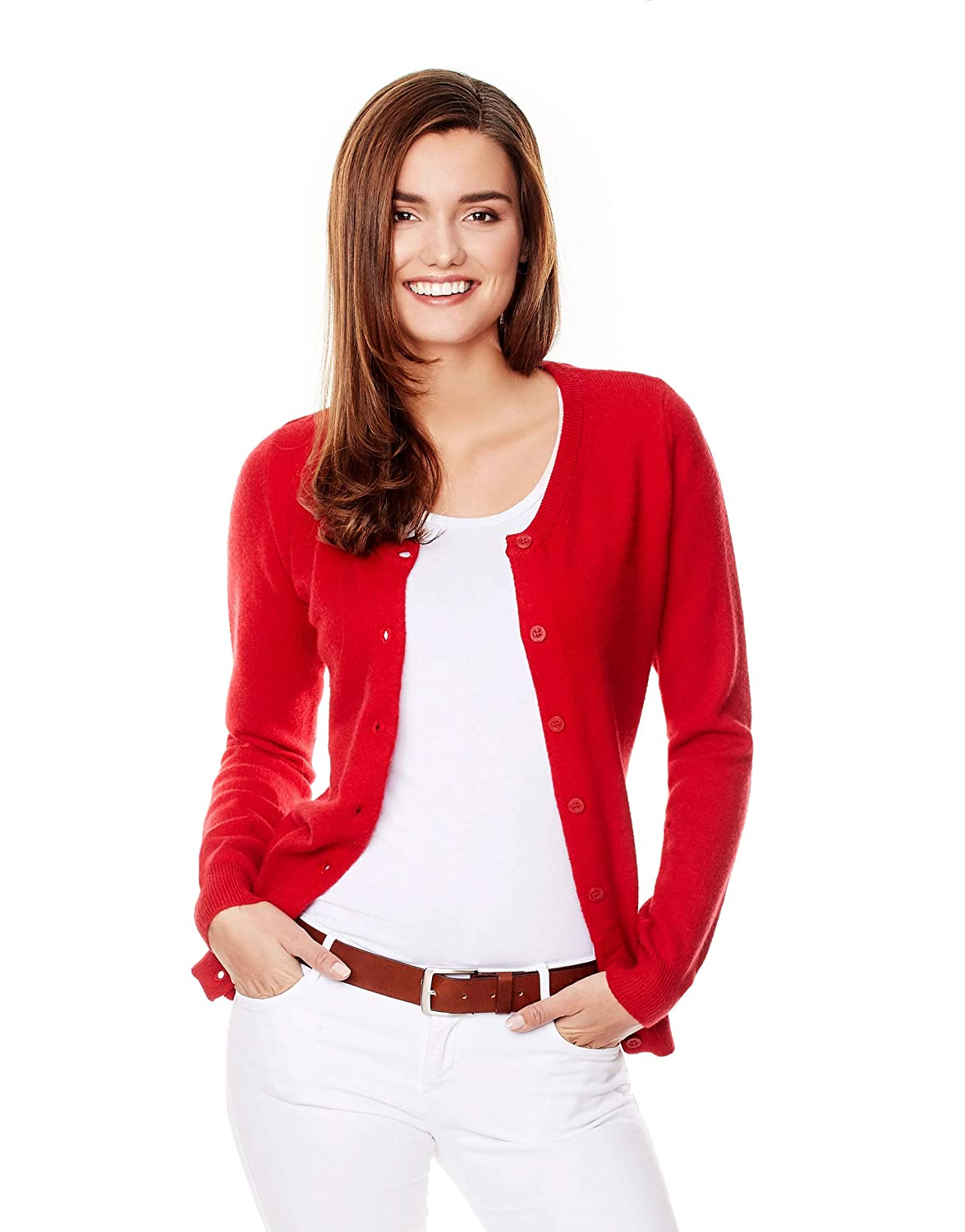 23ecb1536dfced Vincenzo Boretti Women s Pull-Over Knitted Jumper Regular-fit Long Sleeve  Rib v-Neck Plain Colour Stylish Warm Smart-Casual Ladies