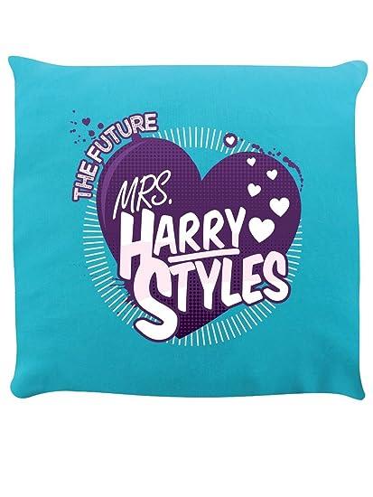 Amazon.com: El futuro Señora Harry Styles Cojín Turquesa 40 ...
