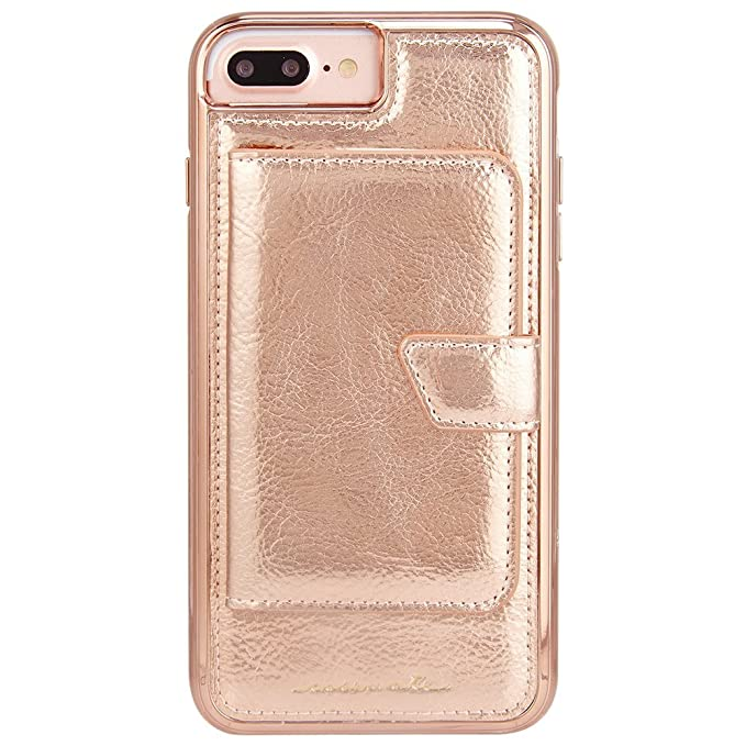 more photos 6f014 f5485 Case-Mate iPhone 8 Plus Case - COMPACT MIRROR -Rose Gold - Holds 4 Cards -  Protective Design for Apple iPhone 8 Plus - Rose Gold