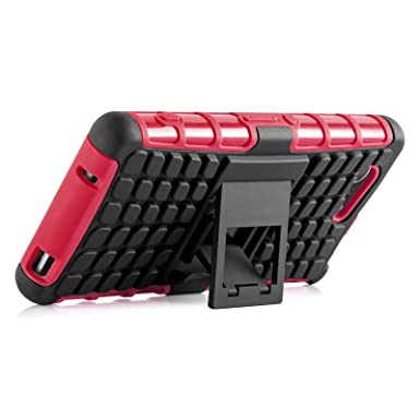 Xperia Z3 Compact Case - Alligator Heavy Duty Rugged Back Cover for Sony Xperia Z3 Compact, Red