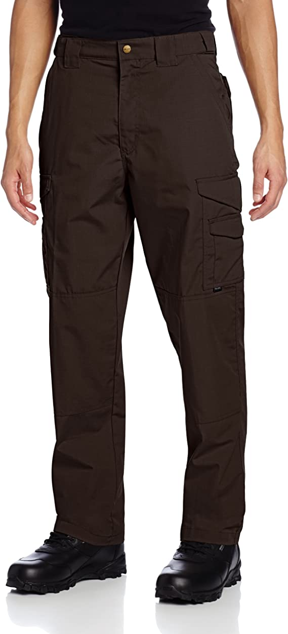 Image of a man standing, wearing the TRU-SPEC 24-7 Tactical Pants for Men, in color brown.