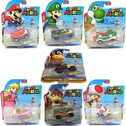 Koopa Hot Wheels MARIO KART set of 11 Marios Peach Yoshis Bowser+