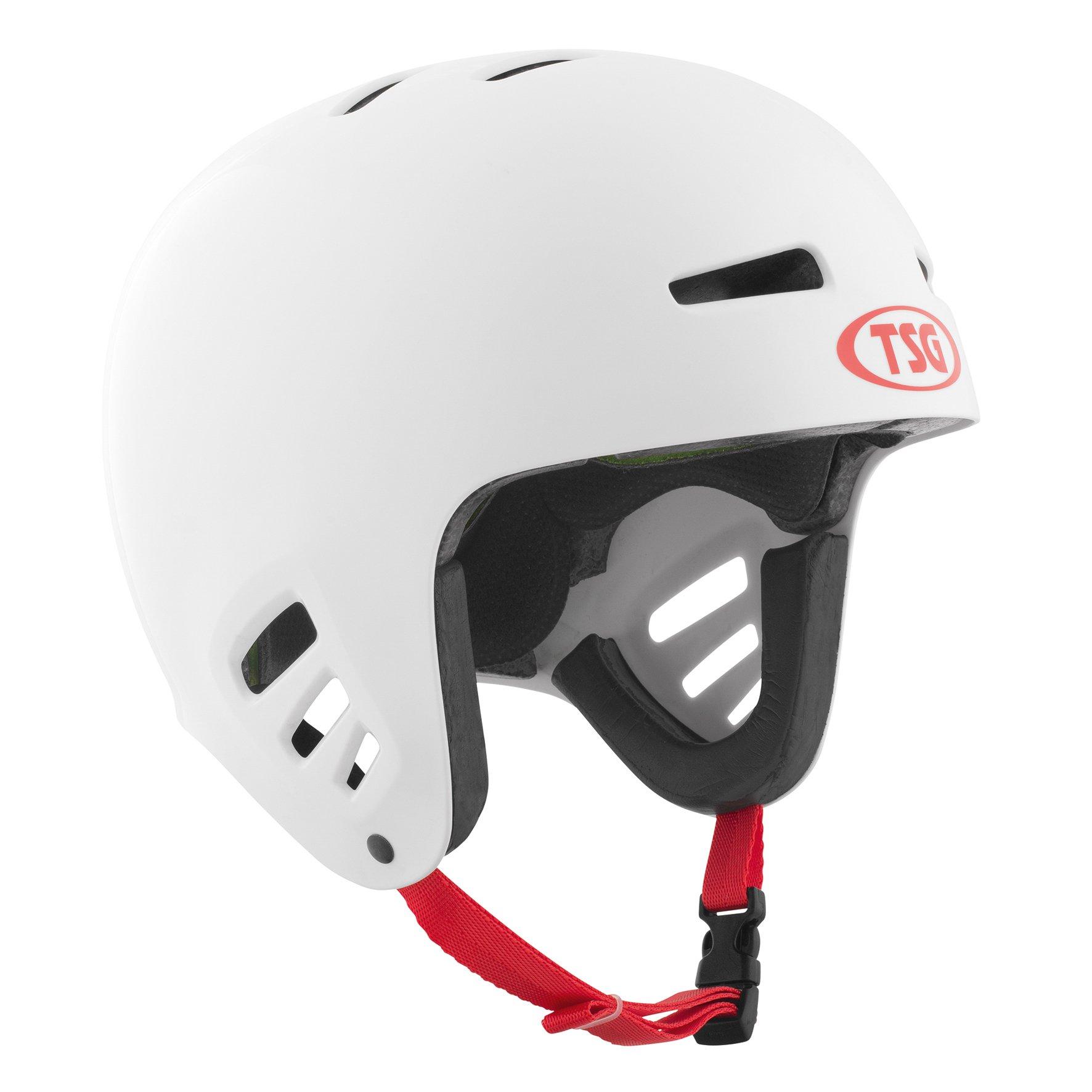 TSG - Dawn Flex Solid Color (White, L/XL 57-59 cm) Helmet for Bicycle Skateboard