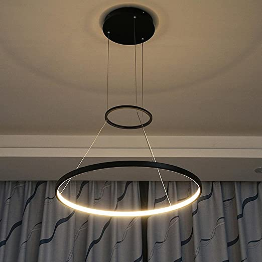 Amazon.com: dmmss Chandelier Led moderna única ronda Círculo ...