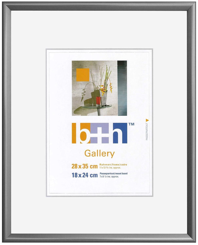 Amazon.de: Bilderrahmen 28x35 Kunststoff, stahl (grau-silber ...